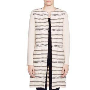 Tory Burch striped black sweater coat